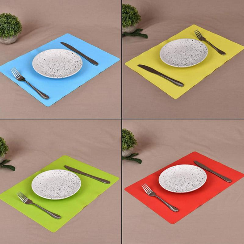 2pc Lebensmittelqualität Silikon Platzdeckchen sicher und zuverlässig Baby Platzdeckchen Halten Sie den Desktop sauber und sichere Wiederverwendung