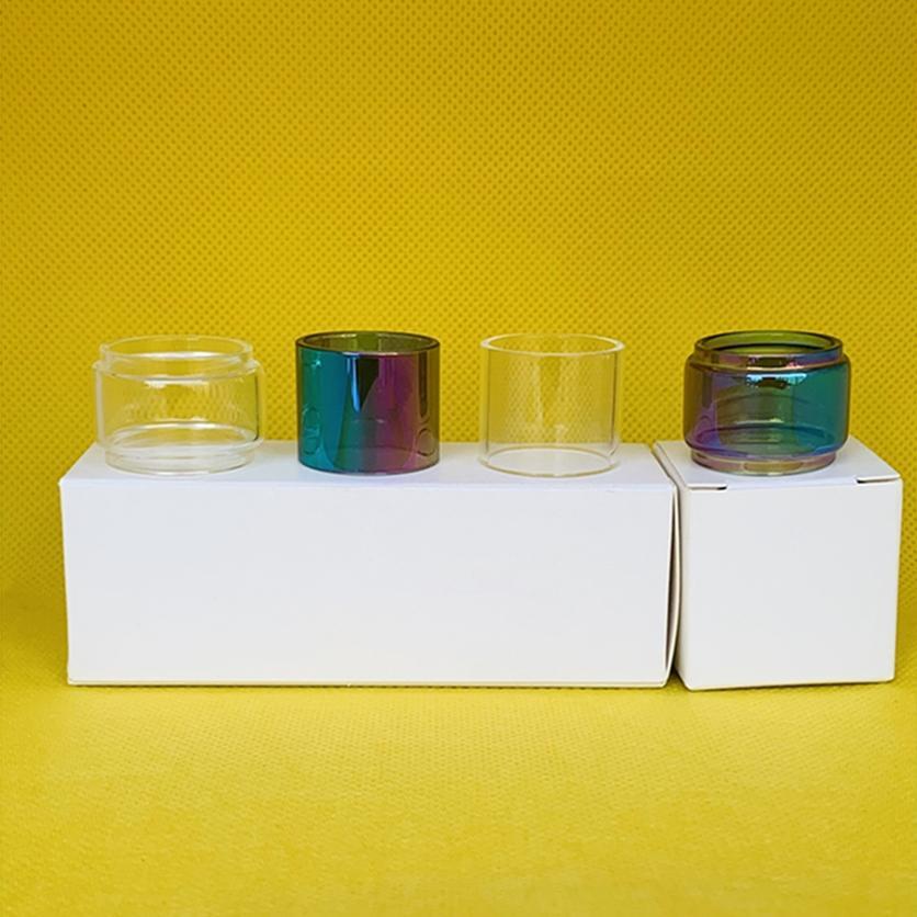 Verre Tube pour IJOY diamant Subohm réservoir clair ampoule arc-en-Tube Fat Boy avec 1/3 / 10pcs paquet de détail
