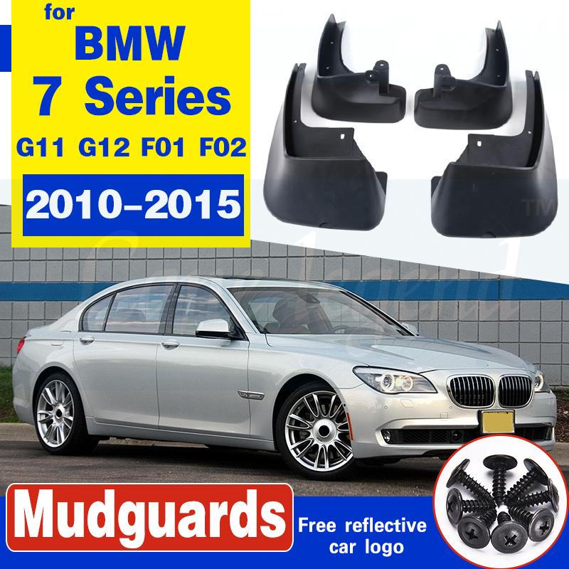 Car Styling Garde-boue Garde boue boue de Rabats POUR 2010-2015 BMW Série 7 G11 G12 F01 F02 Auto garde-boue Garde-boue 4PCS 2012 2014