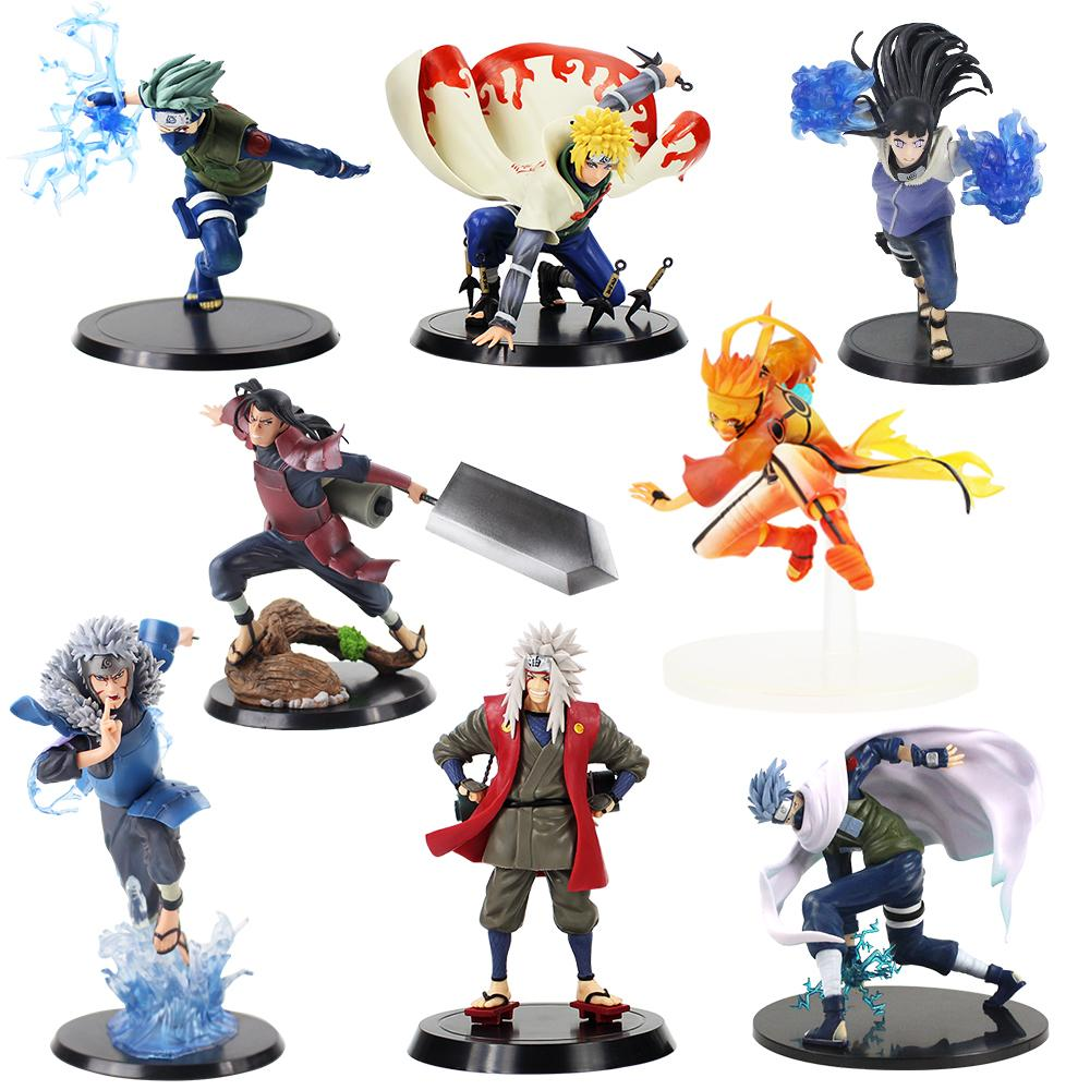 Anime Naruto Shippuden Figur Tobirama Senju Hashirama Senju Jiraiya Minato Namikaze Kurama Hinata PVC Action-Figur Spielzeug Geschenke Y200811