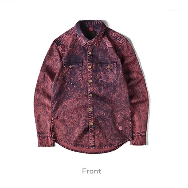 Styles Mode Hommes Printemps Vêtements Automne luxe Chemise à manches longues Designer Mens Casual Shirt vieux métal