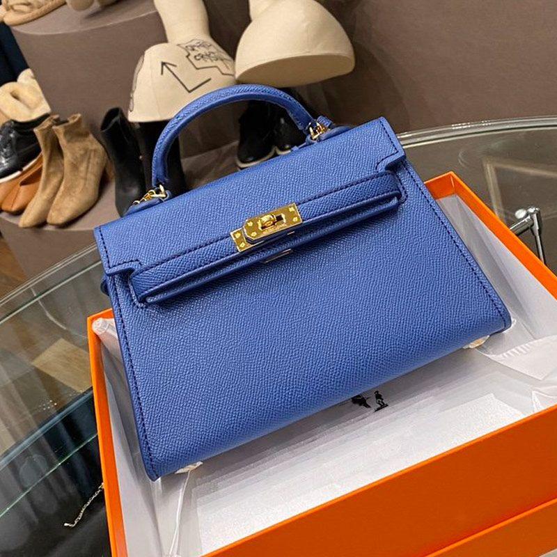 Borse della borsa Kelly Mini Pacchetto Tote Bags Genuine Leather Fashion Opera Palmar Stampa Hardware Plain Hasp delle donne della borsa a tracolla