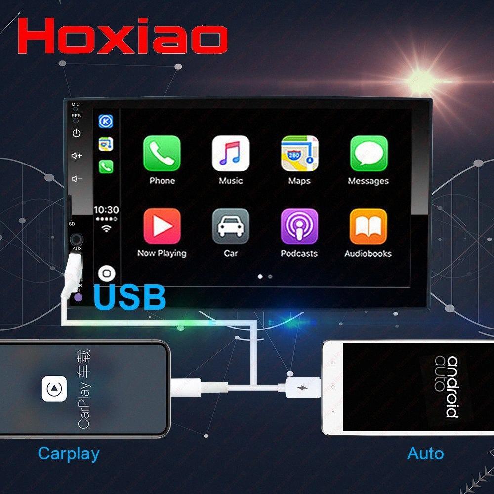 carplay 2 الدين شاشة لاعب راديو السيارة الوسائط المتعددة التي تعمل باللمس الروبوت السيارات صوت ستيريو بلوتوث MP5 USB TF FM كاميرا 2DIN zXZ9 #