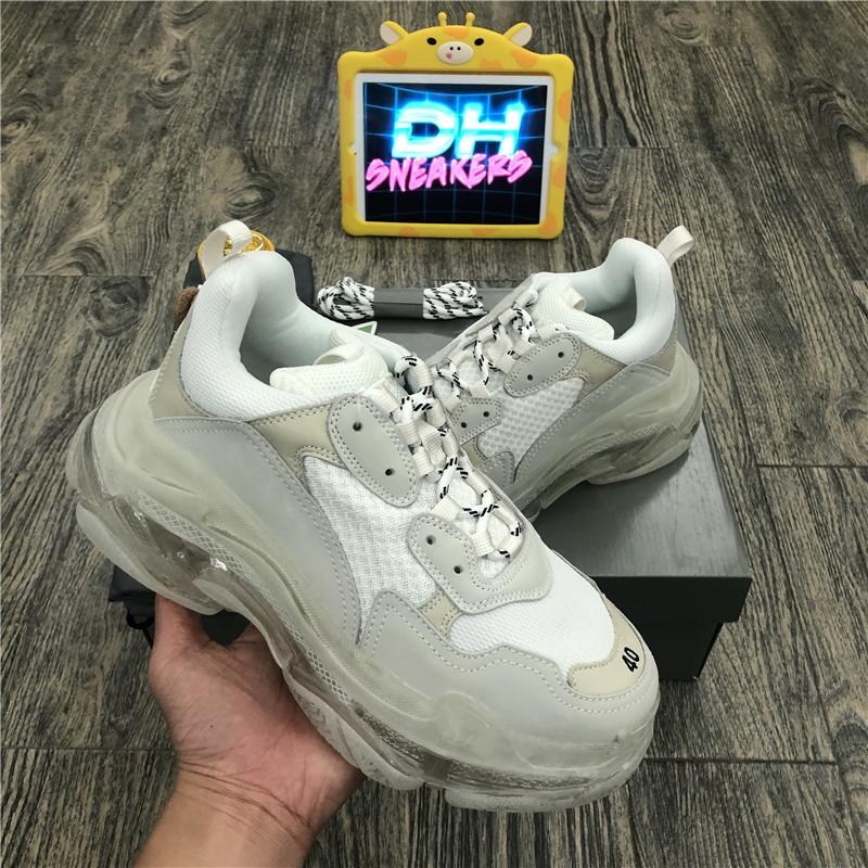 Top quality 2020 New Paris Fashion 17FW Triple S Sneakers Boots For Men Women Green White sneakers Vintage Old Dad Grandpa Casual Shoes