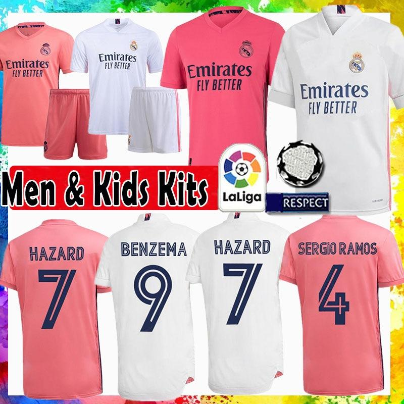 Real MadridSERGIO RAMOS HAZARD MODRIC Soccer Jersey BENZEMA maillot de foot BALE Football Shirt MARCELO ASENSIO Kids Kits ISCO VINICIUS JR.