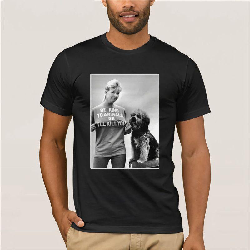 2020 Смешные Rip Doris Day Be Kind животным или Убью Мужчины Рубашка Мода Мужская с коротким рукавом Футболка