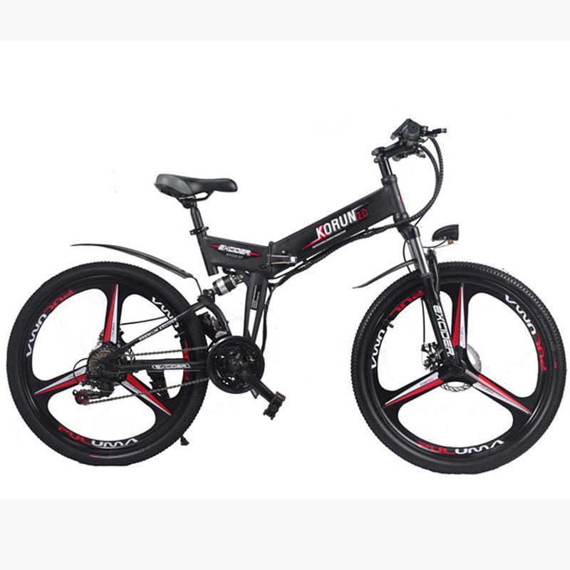 bicicleta eléctrica de 48V Ocultar litio batería eléctrica 26 en bicicleta de montaña inteligentes Assist Híbridos motores a prueba de agua Kit EBIKE Belde 45 kilometros