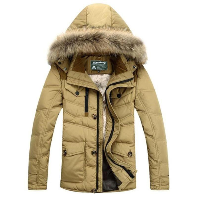 Envío libre 2020 de la nueva marca para hombre del invierno pato collar chaquetas Hombres piel Down Parkas hombres más el tamaño caliente M-3XL