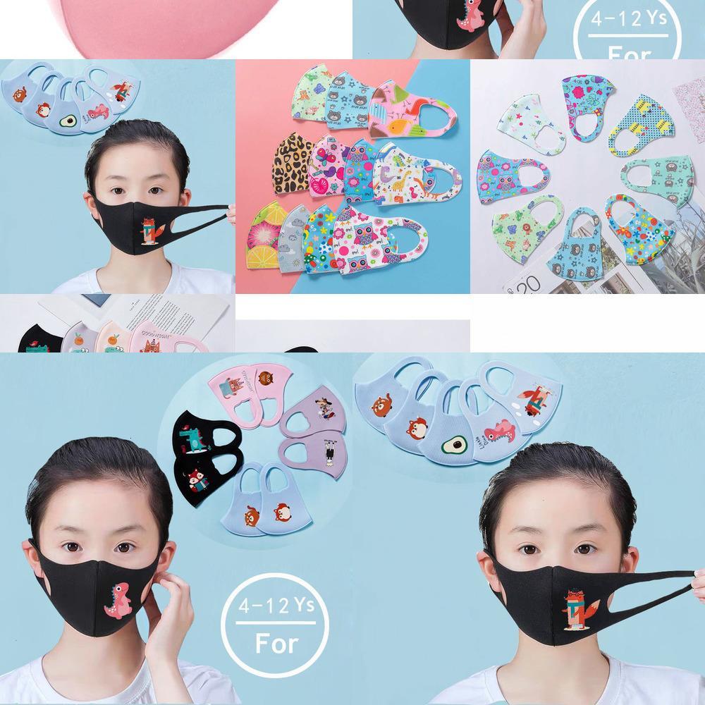 قناع الوجه في الكرتون المالية تصميم 3D لتغطية الاطفال الفم قناع تنفس الغبار المضادة للبكتيريا W 48C6