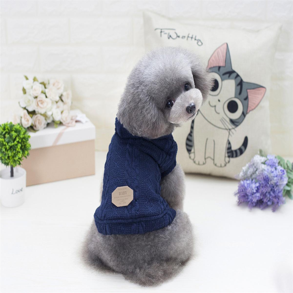 Outono e Inverno New Pet roupa do cão britânico Roupa Pequenas e Médias Dois cães-Leg Sweater