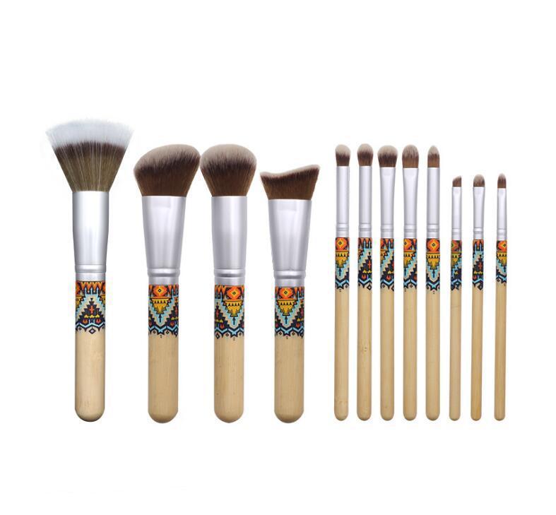 Makyaj Fırçalar Seti 12pcs / lot Göz Farı Eyeliner Kaş Pudra Makyaj Fırçalar Profesyonel Makyaj Fırçalar J1552