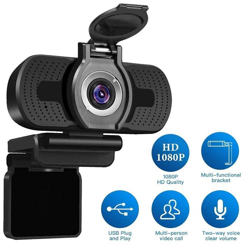 HD 1080P Компьютерная камера с Пылезащитный веб-камера для веб-трансляции Видео конференции Веб-камера Full HD Камара для портативных ПК