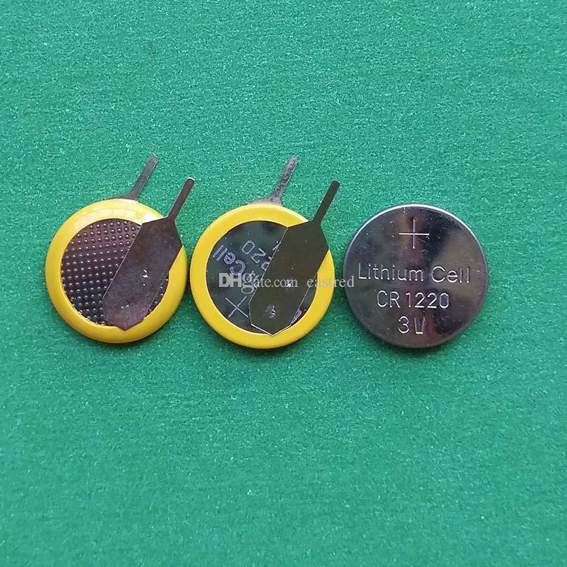 1000pcs pro LOT 3V CR1220-Taste Zellenbatterie mit Pins-Tabs für PCB
