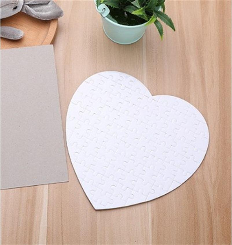 التسامي فارغة بانوراما الأبيض الحب القلب ورقة الطباعة الصور لغز السلس نقل الحرارة اللعب الكبار الاطفال الأصالة 2 3xm F2