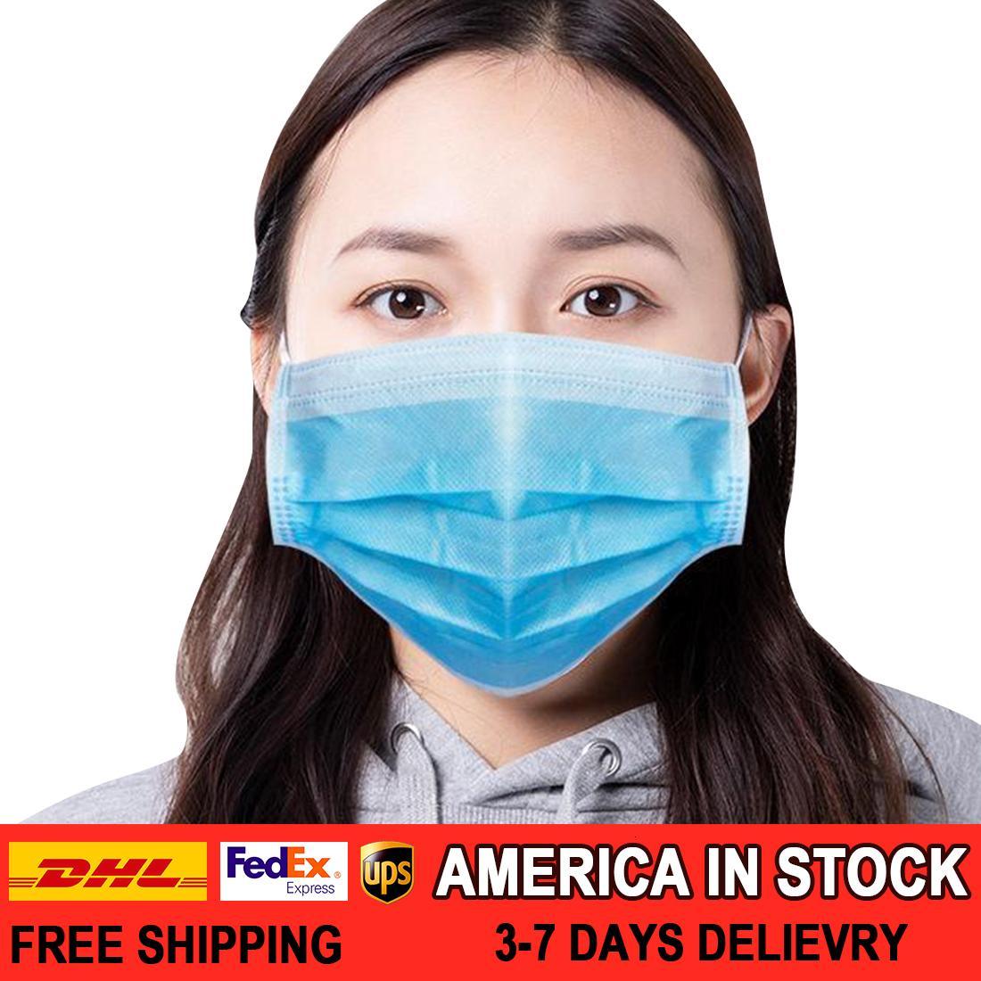 100pcs Einweg-Gesichtsmaske 3 Schicht-Non-Woven-Mundmasken für Frauen und Kinder