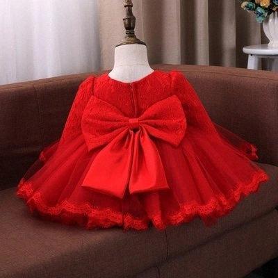 Verano del bebé Traje de bautizo infantil Princesa Trajes de cumpleaños de los niños del partido vestido de primera desgaste de la muchacha del vestido formal Vestido Wyh8 #