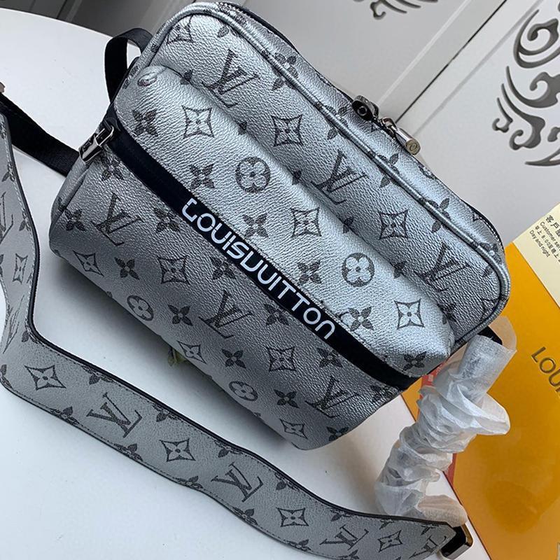 Entrega rápida dos homens bolsa de couro Bolsas Bolso Bandolera Moda estilo clássico Zipper Crossbody Saco de Luxo Designer Men Messenger Bags