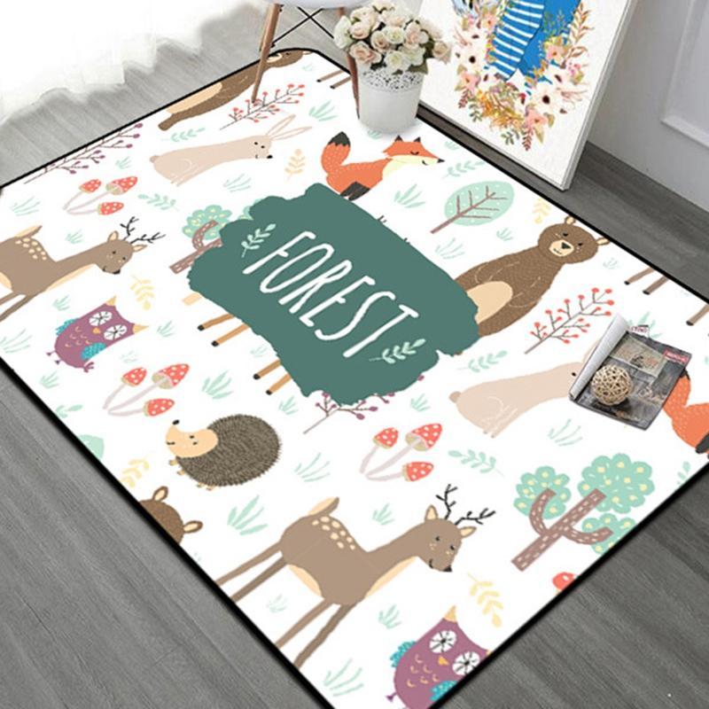 Bosque niños de la alfombra nórdicos estilo para niños Area Rugs para la habitación de la sala de estar de arrastre juego de niños la estera del piso Alfombras de Navidad