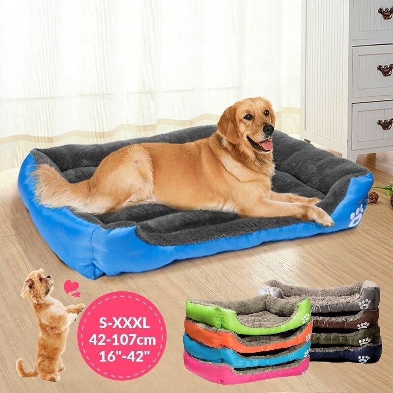 Multicolor Haustier Hund Katze Schlafenbett Weiche Welpen-Kissen Haus-Winter-warm Kennel Dog Matt Padst S / M / L / XL / XXL / XXXL Y200330