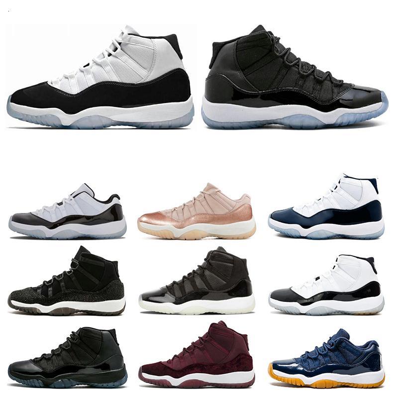 11 11s zapatos de baloncesto del Mens Concord 45 casquillo y del vestido leyenda Platinum Blue Tint atasco del espacio Gimnasio Rojo XI NakeskinJordánzapato Retros