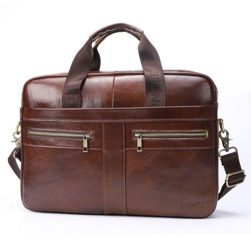 Ombro real negócio genuíno couro crossbody mochila mochila homens polegadas laptop 14 tote vaca sacos de viagem pasta de luxo Goqqd