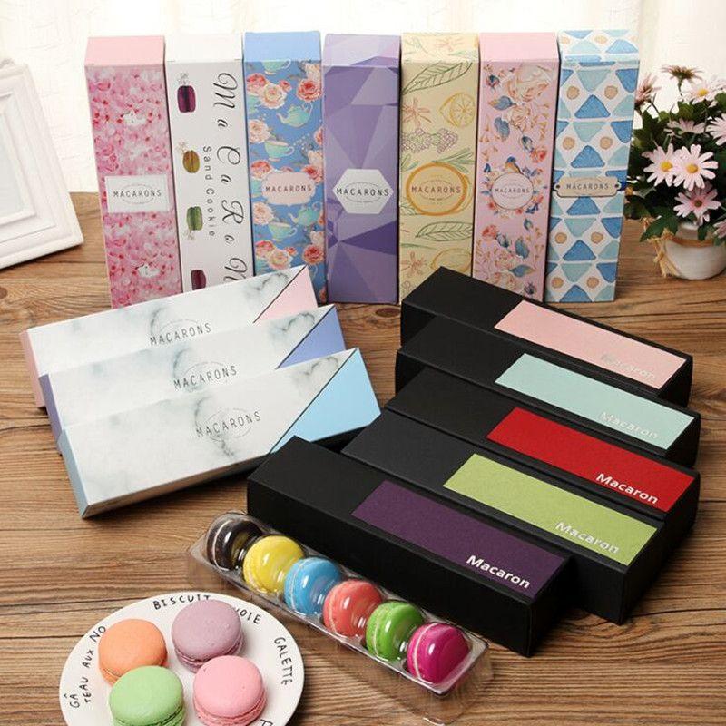 Yeni satış diy 10pcs 23x6x4.9cm Macaron güzel Macaron ambalaj kutusu plastik şeffaf kağıt kutusu çekmecesinin 6 adet - tipi