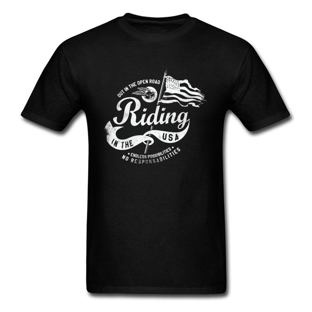 Usa Infinite possibilità design Lettera T-shirt manica corta 100% Vintage Shirts Cotton Group T nero senza responsabilità