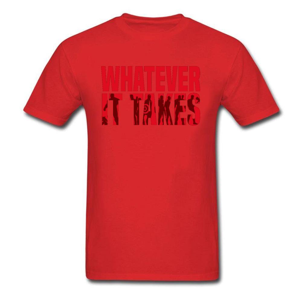 Mode Hommes T-shirts Whatever It Takes Mens T-shirt Marvel Avengers superhéros Lettre 100% coton Hauts Imprimer T-shirt graphique