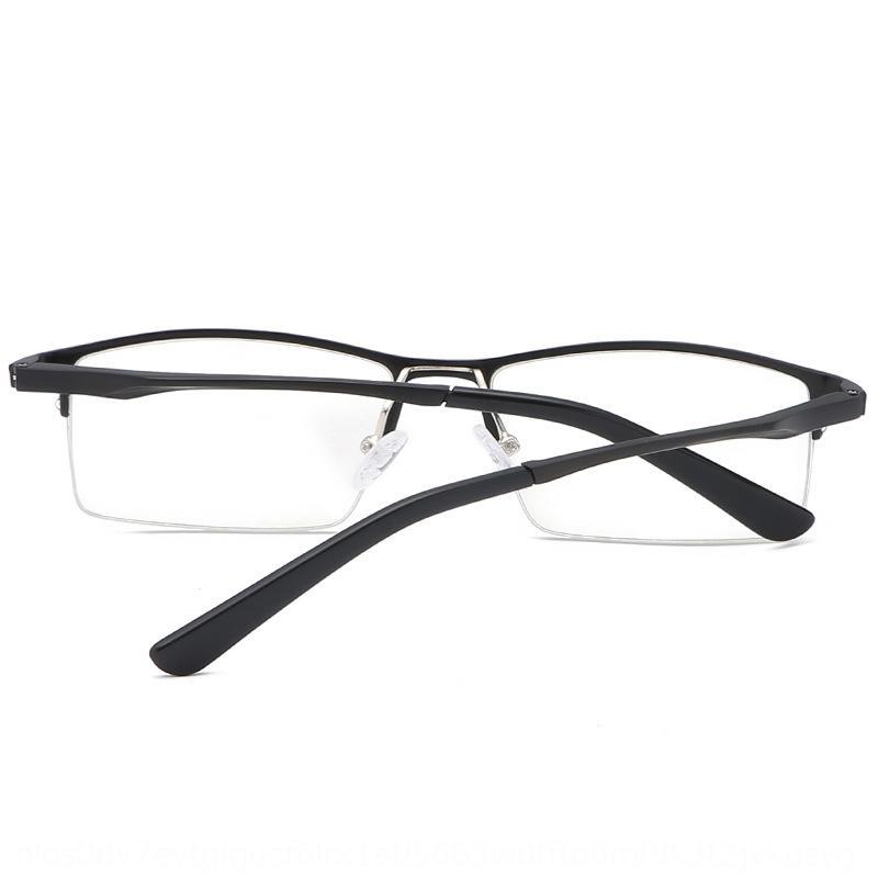 Aluminium-Magnesium-Ebene anti-blaues Licht Männer das Geschäft hängenden Halbrahmen Brille Seide Myopie Brille mit Kurzsichtigkeit New Rack 606 YwEYg