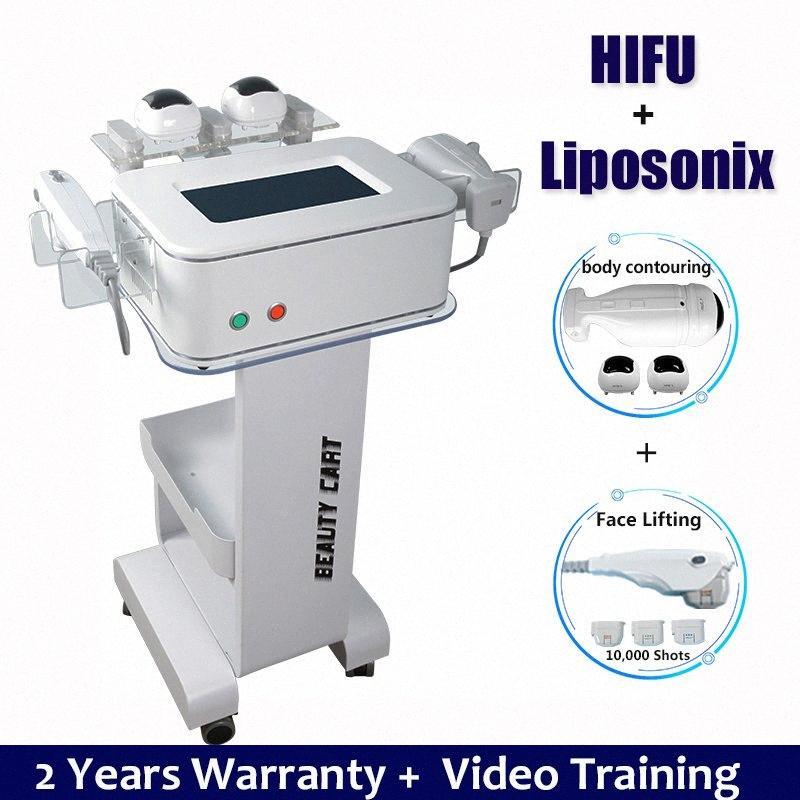 2019 Portatif HIFU Makine Yüksek Yoğunluklu Ultrason HIFU Yüz Germe Vücut Cilt Kaldırma Makinesi Kırışıklık Kaldırma Tedavi Yüz BpsT # Odaklı