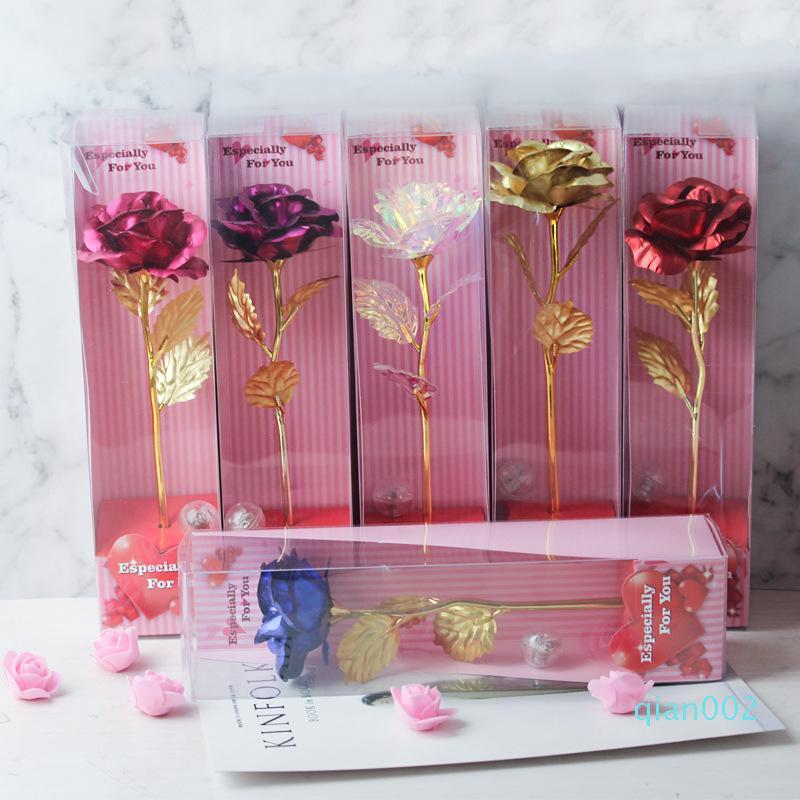 Regalo fiori artificiali il giorno di San Valentino Rosa singola con la luce Garofani fiori della mamma migliore regalo per San Valentino
