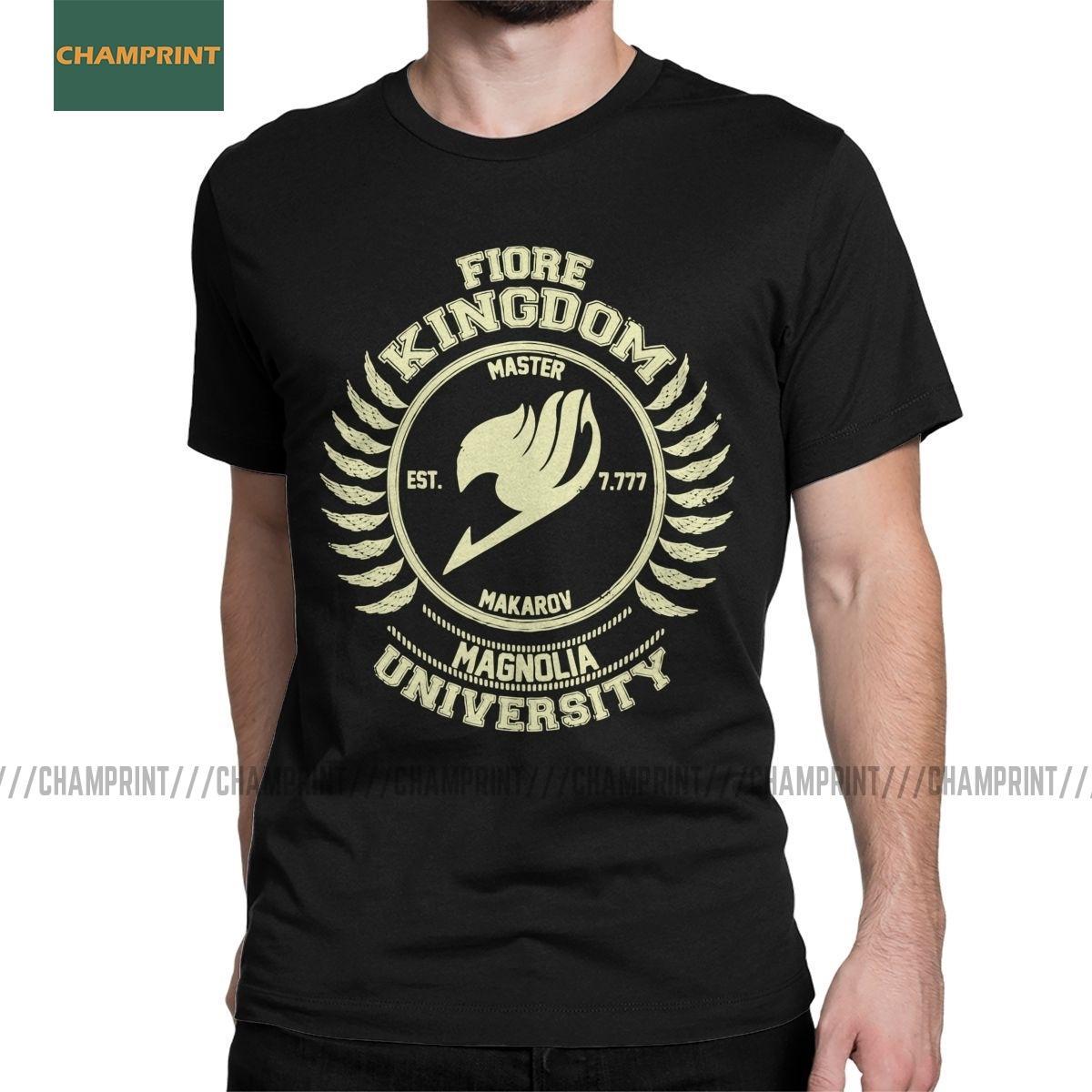 Universidade Magnolia fada creme cauda Homens T Shirt Natsu Dragneel Lucy Heartfilia Erza Tees manga curta T-shirt Tamanho algodão mais