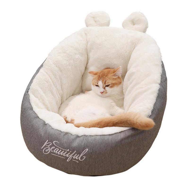 Pet Sofa Cat Dog Bed Mat chiot doux et chaud Kennel Coussin confortable Oreille-forme WARM Toison Puppy Pet Sleeping Dog Canapé-lit Waterproo