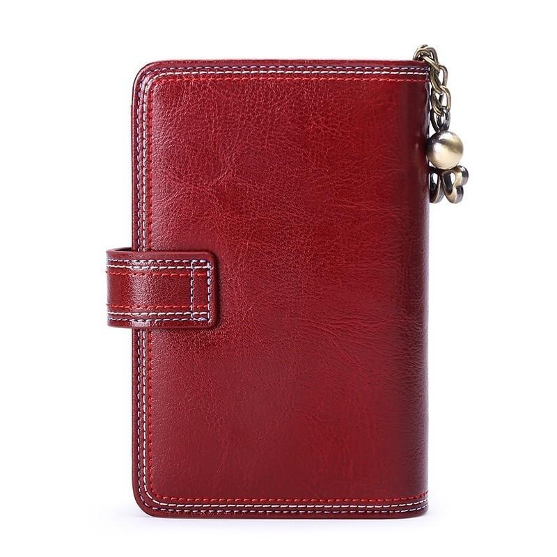 Hohe Qualität Kleiner Geldbeutel Frauen-Mappen-Kuh-Leder-Short Wallet Female Fashion Brand Design-Mappen-Münzen-Geldbeutel-Mini-Portemonnaie