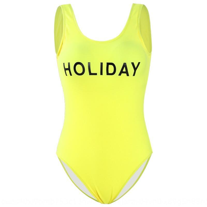 Sıkı tek parça mayo plaj tatil kadınların mayo 2020 yeni Koreli spor stil Backless U yaka