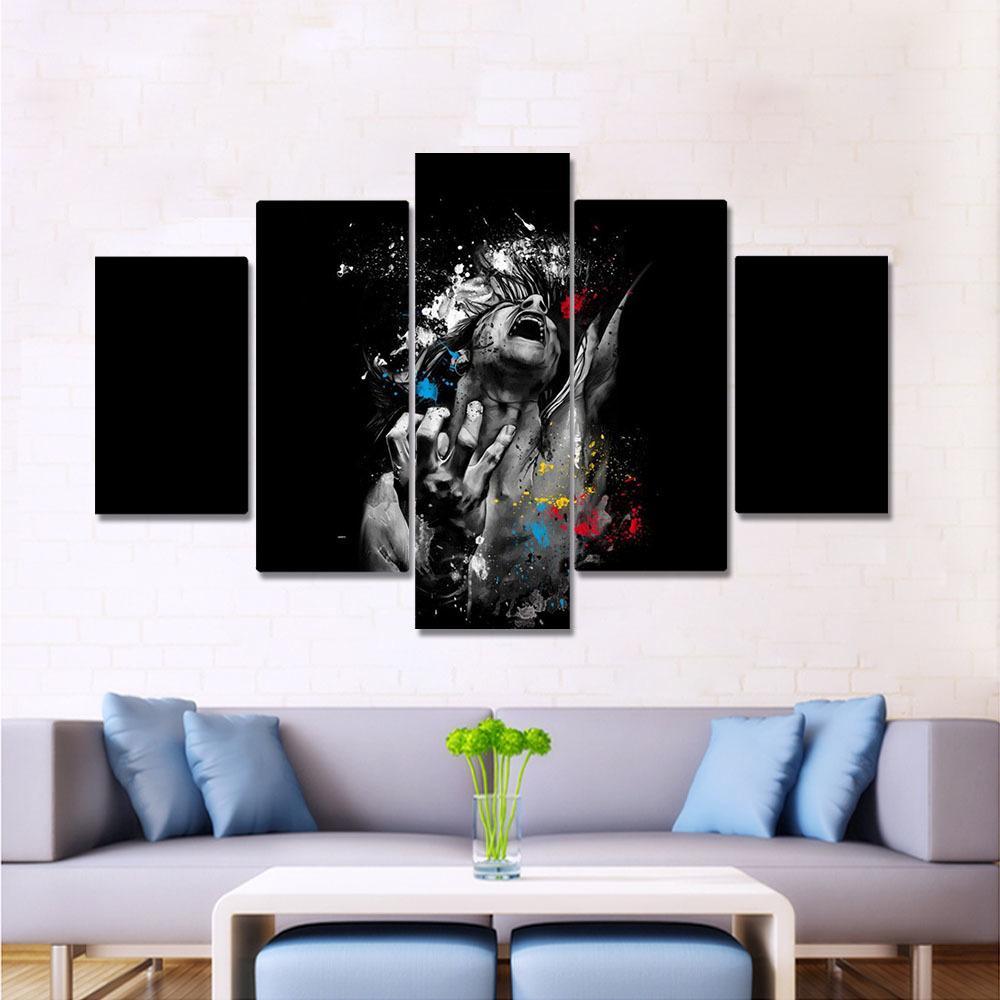 Картина на холсте Картины Абстрактной Patrice Murciano Болезненных лицо Отпечатки Стен Фотографии для гостиной на стену Art Decoration