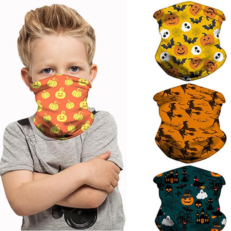 Halloween bambini Maschera della mascherina protettiva Maschere bambini Outdoor Ciclismo sciarpa magica Fasce Bandane Turbante partito IIA505