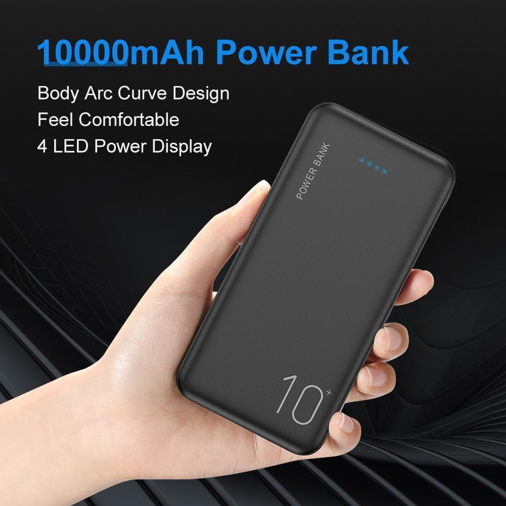 قوة البنك 10000mAh المحمولة شحن البطارية الخارجية شاحن تجدد powerbank 10000 ماه للحصول على سامسونج XIAOMI هواوي