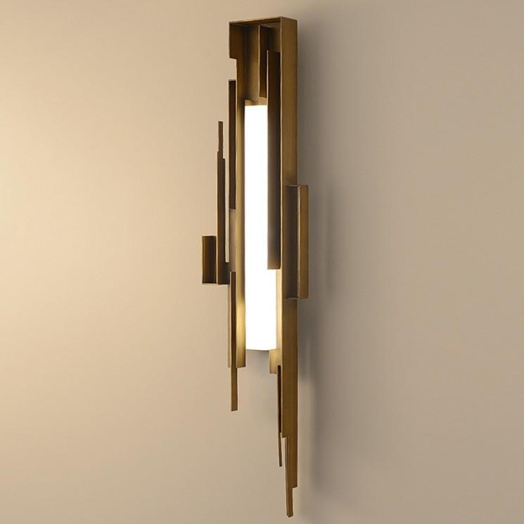 Pós-moderna de Ouro lâmpada de parede LED de luxo Ferro iluminação de cabeceira Luminárias escadaria deco sconces Nordic restaurante quarto