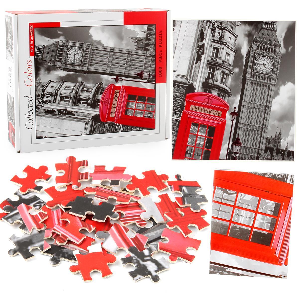 1000 bulmaca çapraz ötesi bulmaca yapı taşları Londra saat kulesi kalınlaşmış kağıt yetişkin gençlik eğitici dekompresyon oyuncaklar