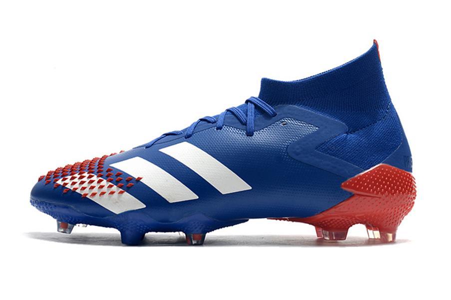 Predator mutador zapatos de fútbol 20,1 FG Torturador zapatillas de deporte los niños grapas de fútbol botas de jóvenes adultos entrenadores cornamusa arranque la zapatilla de deporte azul