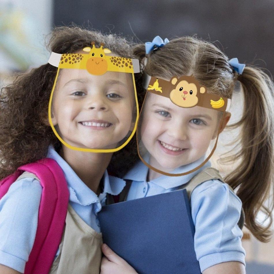 35 Stiller Çocuk Güvenliği Yüz kalkanı Kid Şeffaf Tam Yüz Kapak Koruyucu Film Anti- sis Prim PET Yüz Kapak Parti LJJP25 k5jJ # Maske