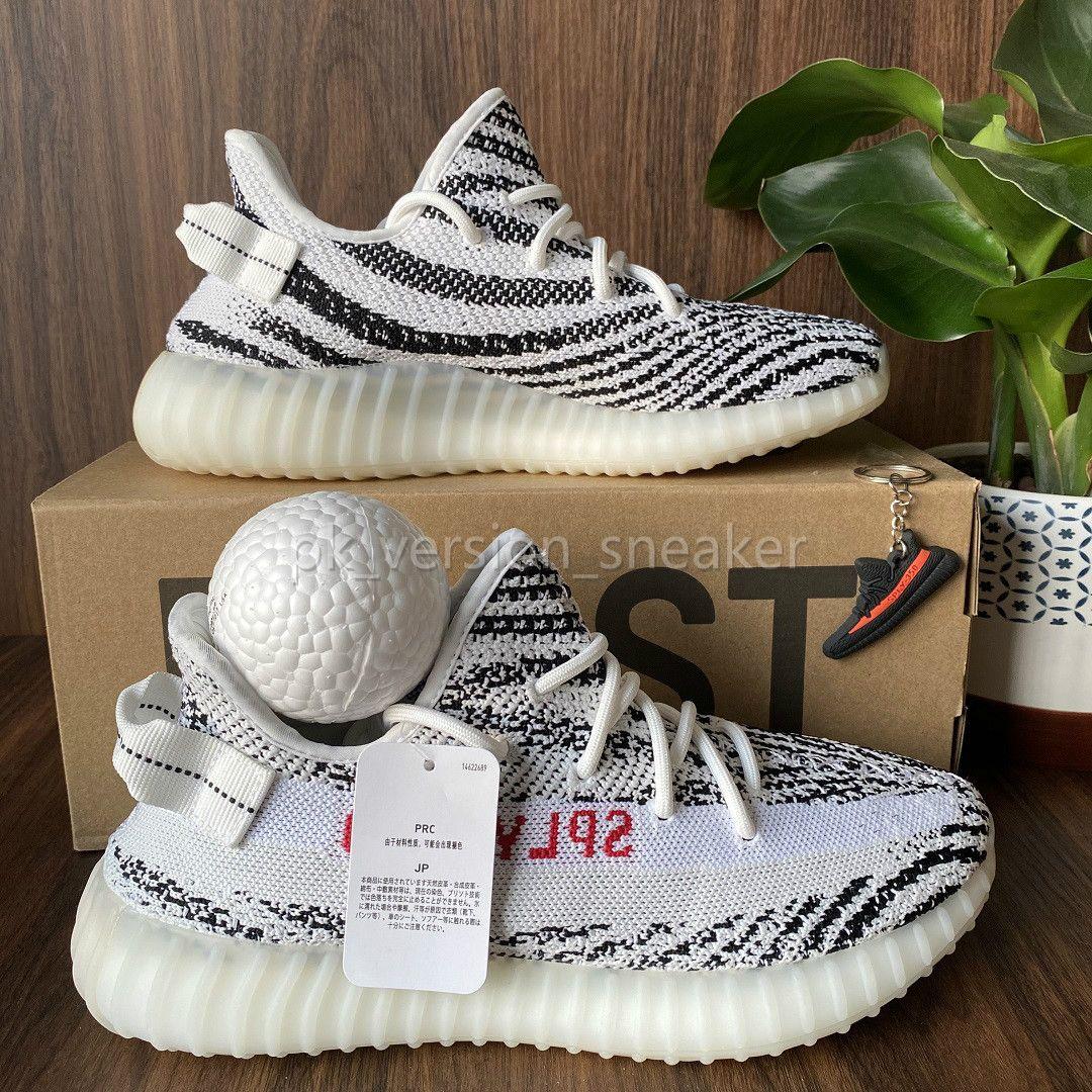 Melhor Mens Qualidade Running Shoes Mulheres Sports Sneakers Kanye West Triplo Preto Zebra Cinder Israfil Beluga Yecheil Luz Traseira de V2 Duplo Box