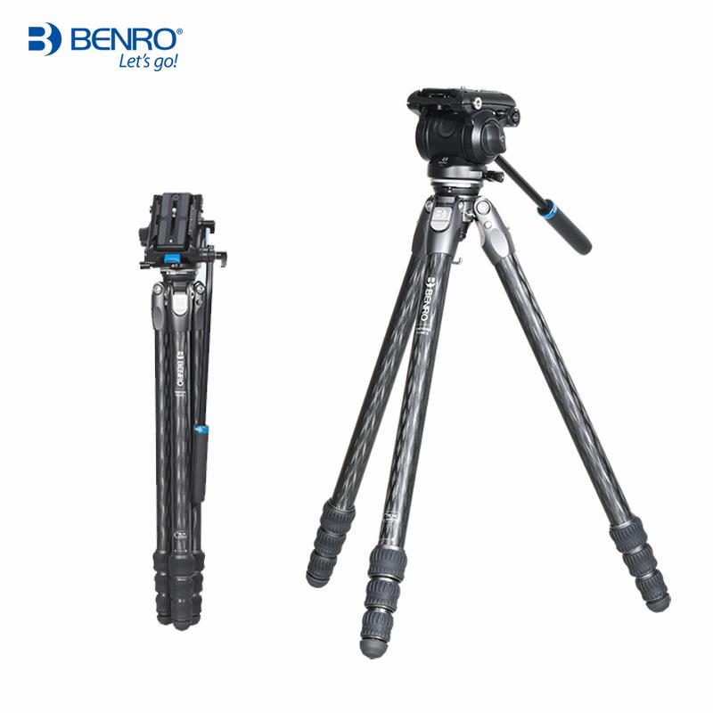 Benro TR298CL TR298CLK Tripod Carbon Fiber Tripods Camera Stands S4N Video Head 4 Section Max Loading 4kg