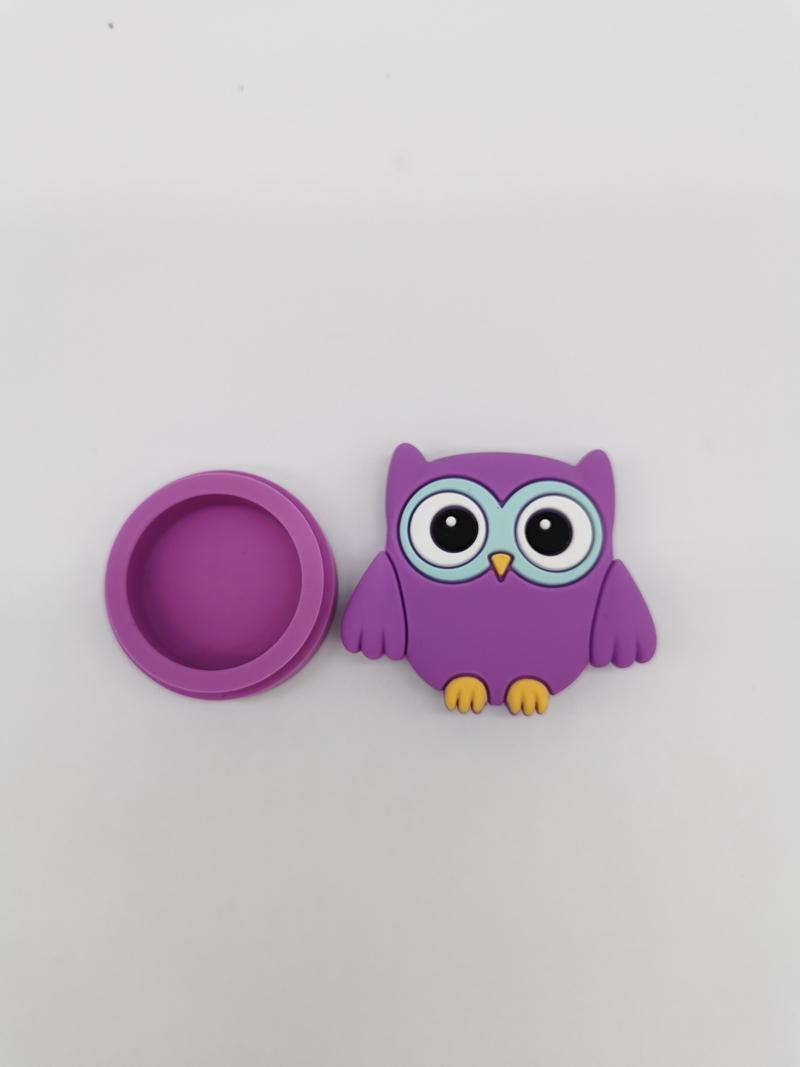 Owl shape wax containers cartoon silicone box 11ml silicon container food grade jars dab dabber tool storage bho hash oil DHL