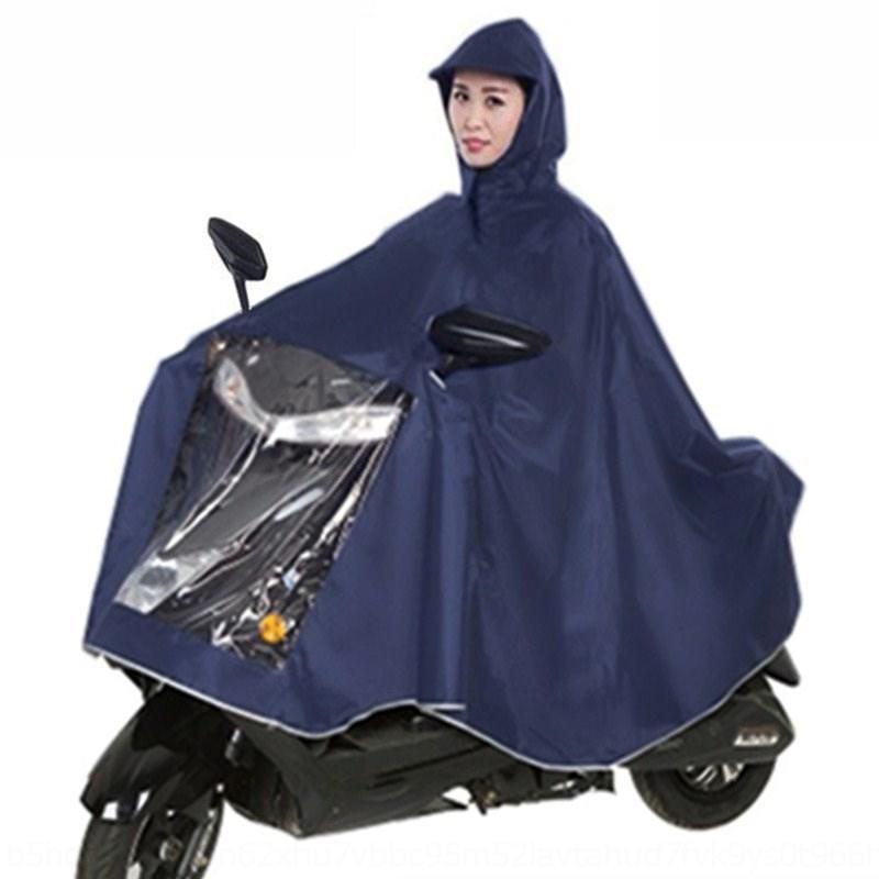 gT6uv ANjIt Erwachsener Auto-Motorrad-Batterie Auto Motorrad Regenmantel ein Reit einziges Elektrofahrzeug Elektrofahrzeug extra dicke Männer Rai Poncho