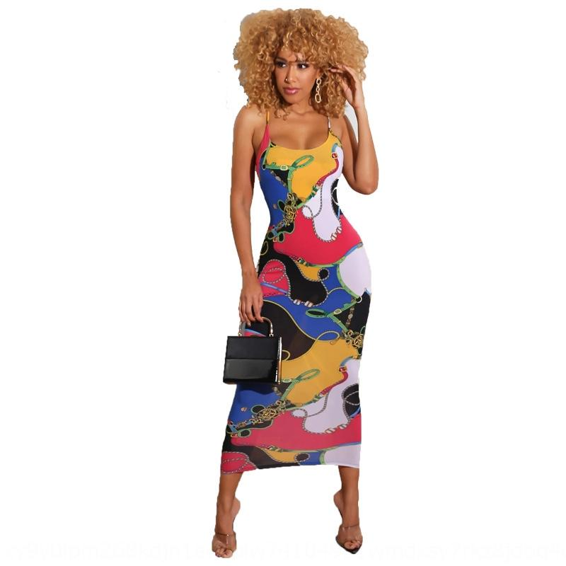 3Rctq YS215 nova moda saia impresso YS215 nova saia Suspender vestido elegante vestido suspender impressa