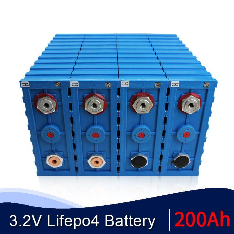 NEW 16PCS CALB 3,2 V 200 Ah LiFePO4-Akku SE200AH Kunststoff 24V 48V 200AH Lithium-Eisen-Phosphat-Pack Solarbatterie