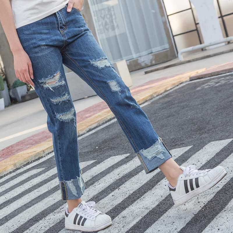 Ucuz toptan 2020 yeni sonbahar kış Sıcak satış kadın moda rahat Denim Pantolon BP77