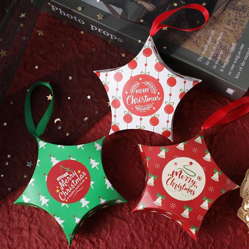5шт / много Рождество конфеты шоколадные коробки украшения для нового украшения Год коробки конфет торжеств и мероприятий
